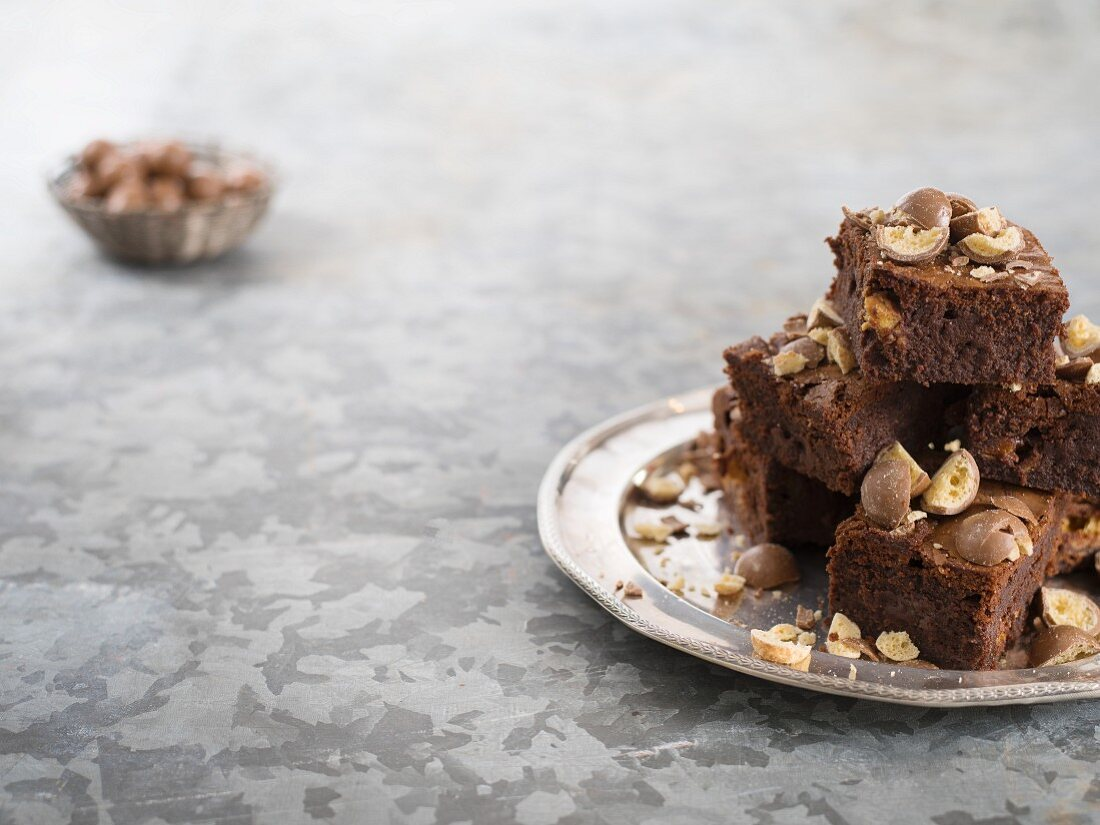 Brownies with Maltesers
