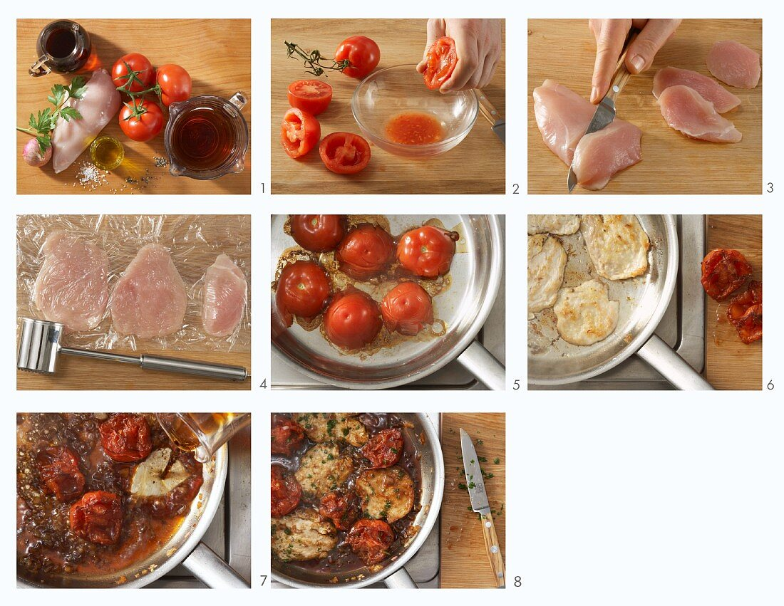How to make quick chicken slices