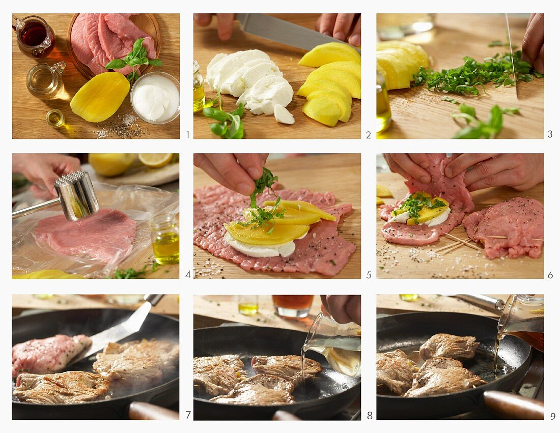 How to make stuffed veal steaks