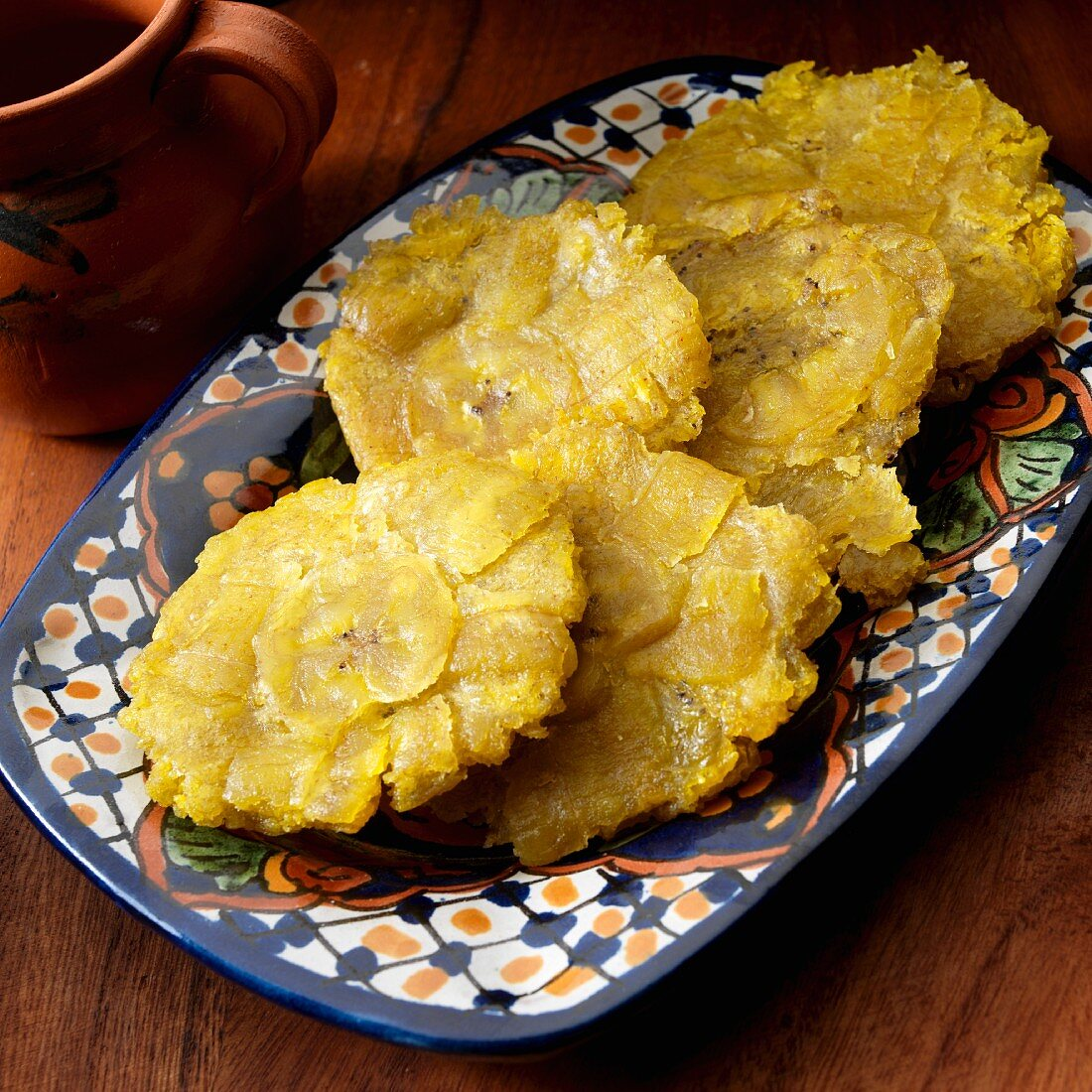 Tostones, twice fried plantains