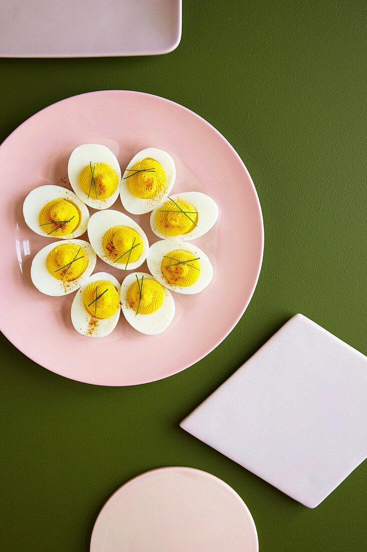 Surprise hard boiled eggs