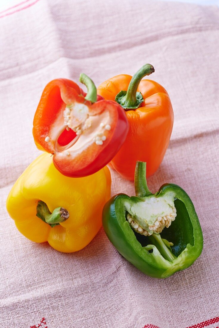 Peppers (yellow, green, orange and red)