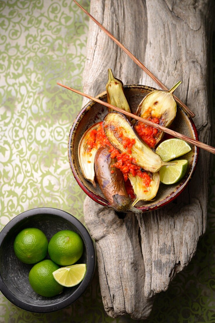 Balado Terong (Eggplants with Chilli Sauce, Indonesia)