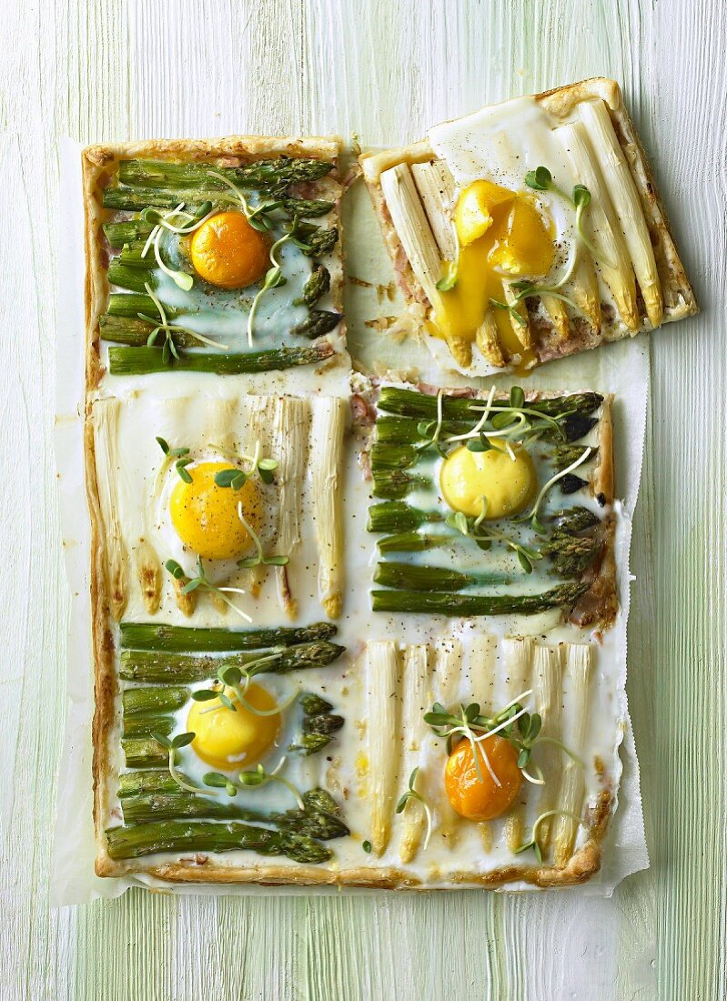 Asparagus and egg tart