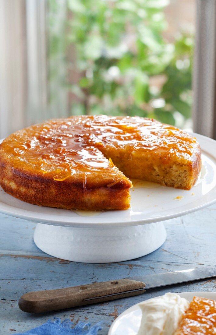 Gluten Free Orange - almond syrup cake