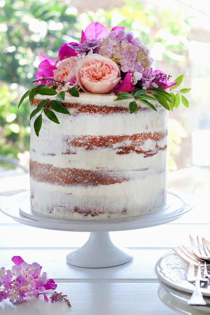 Naked Cake für eine Hochzeit