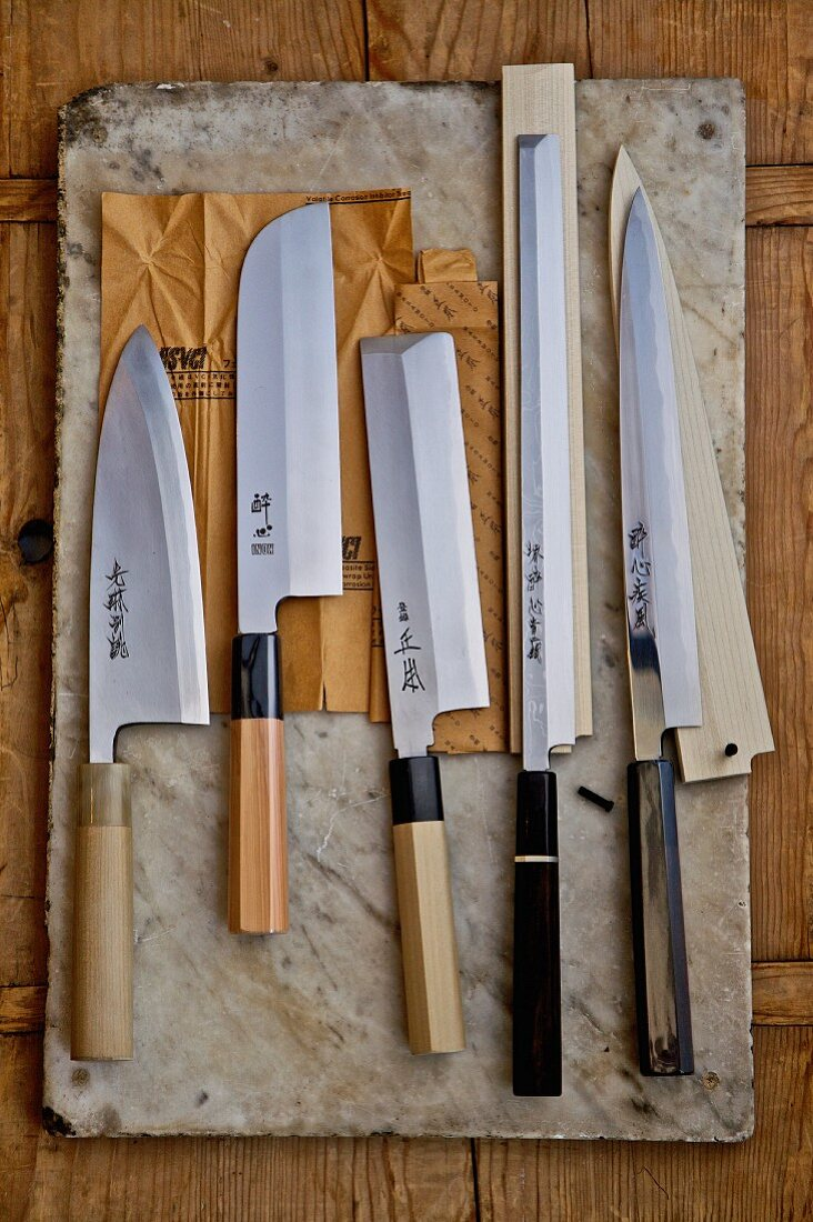 Various Japanese knives