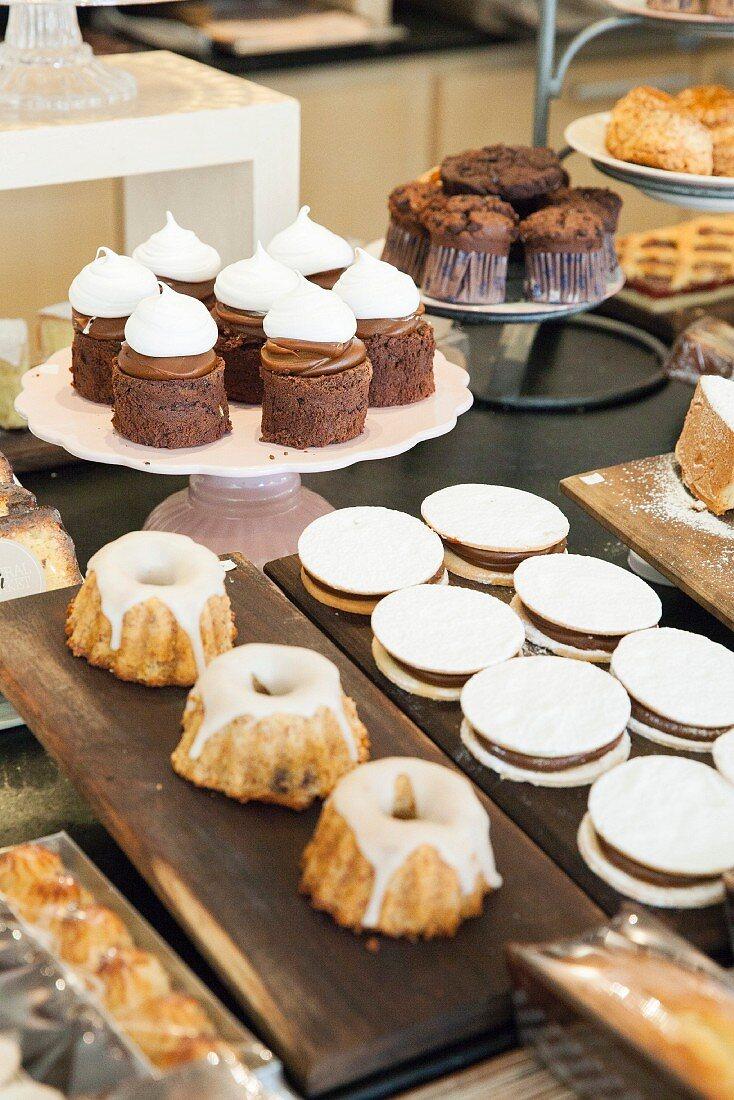 Desserts in bakery