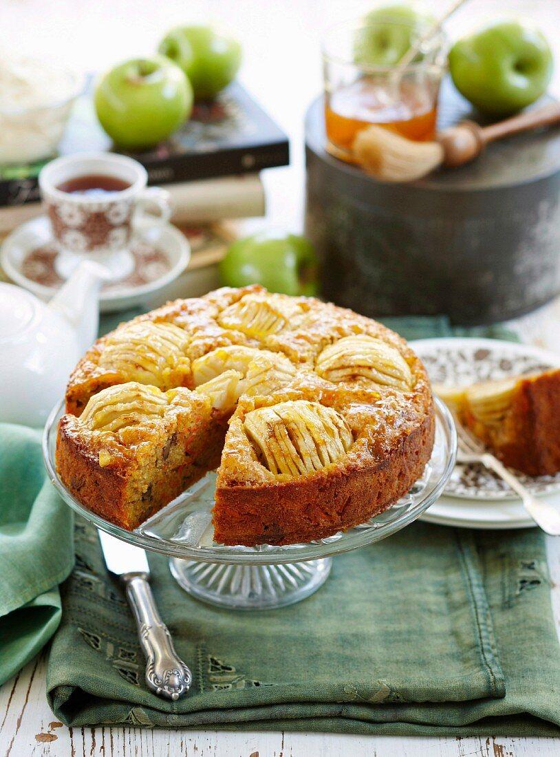 Carrot and apple tea cake