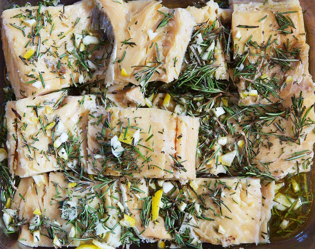 Stockfish in marinade