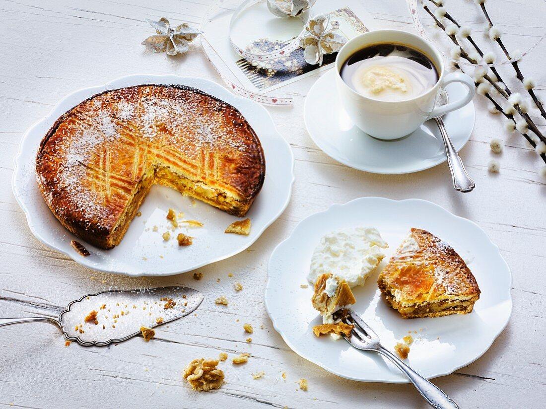 Engardine nut cake for Easter