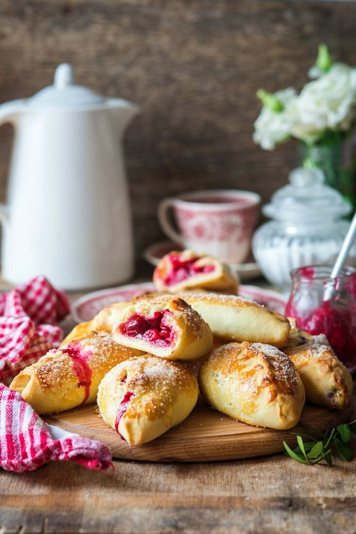Handmade cherry parcels