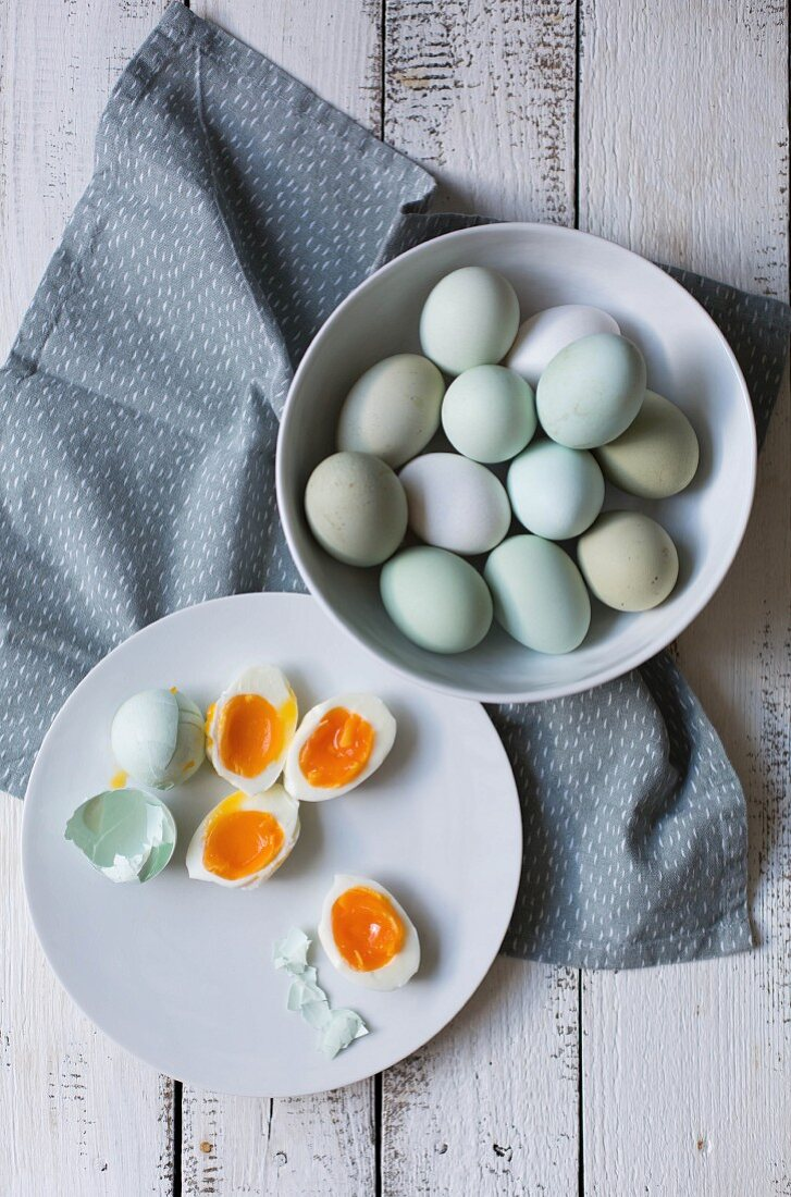 Eggs, partially cooked