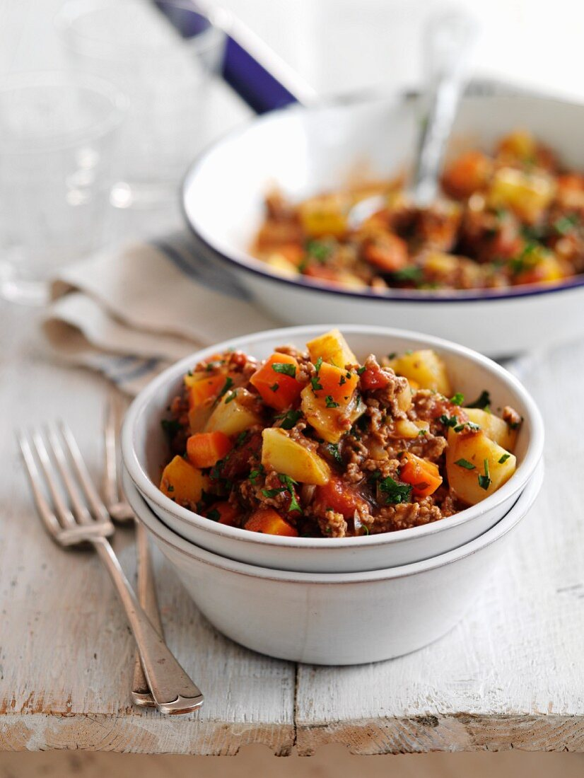Beef mince with potatoes