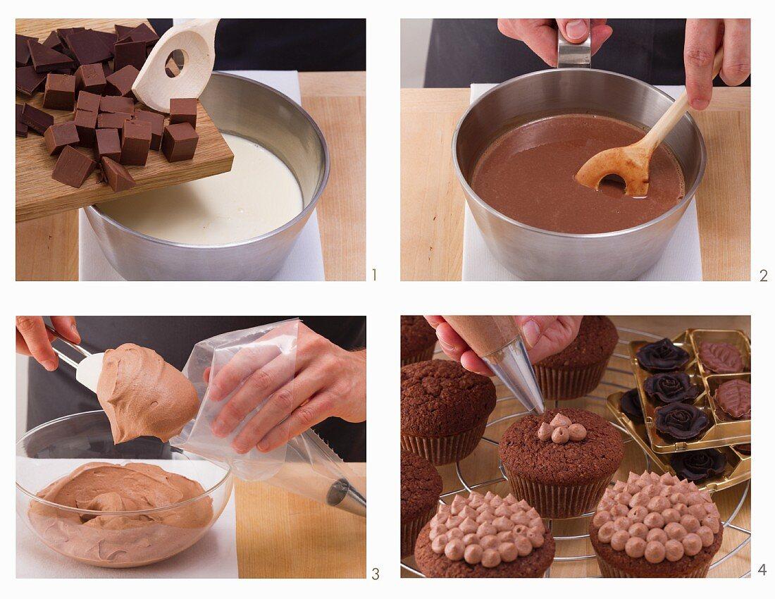 How to bake dark chocolate muffins