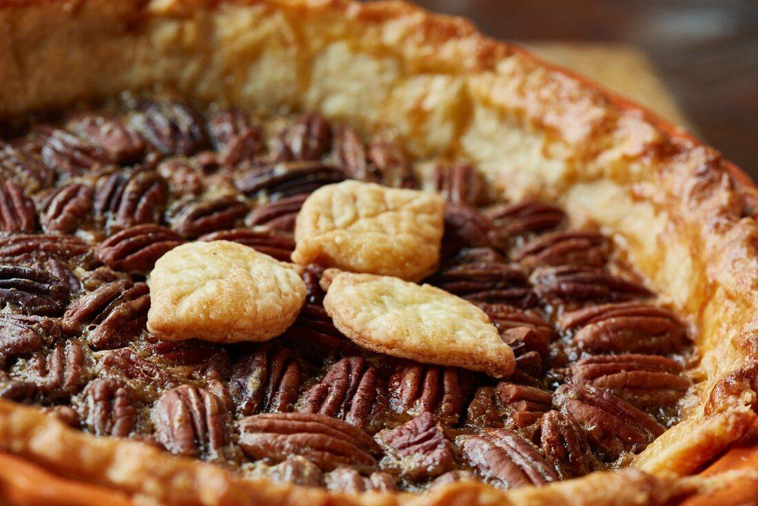 Pecan pie (close up)