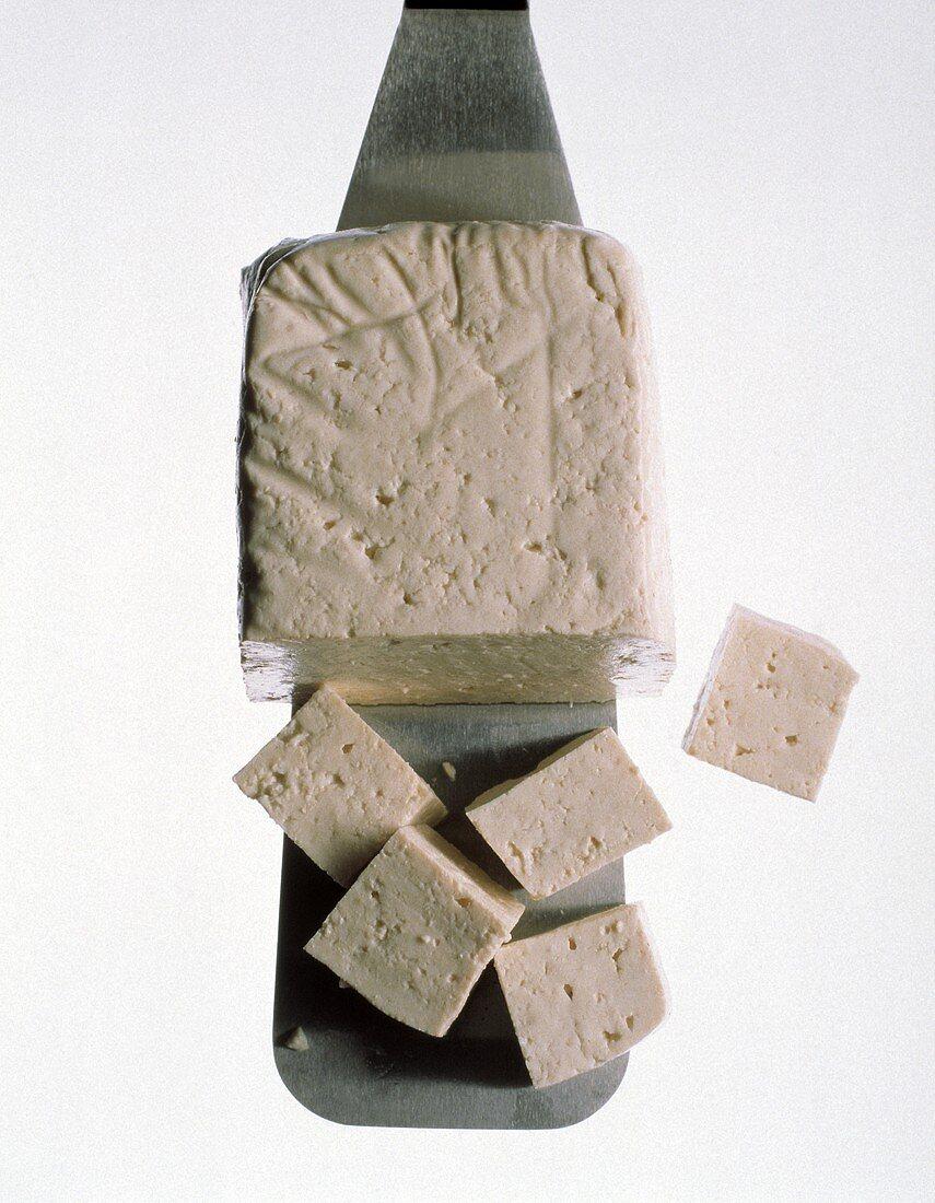 A Piece of Tofu on a Spatula