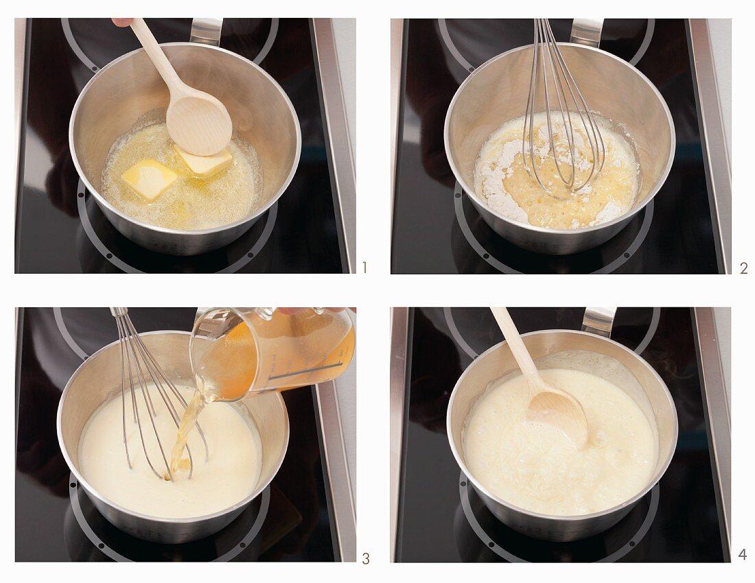 Making mustard sauce