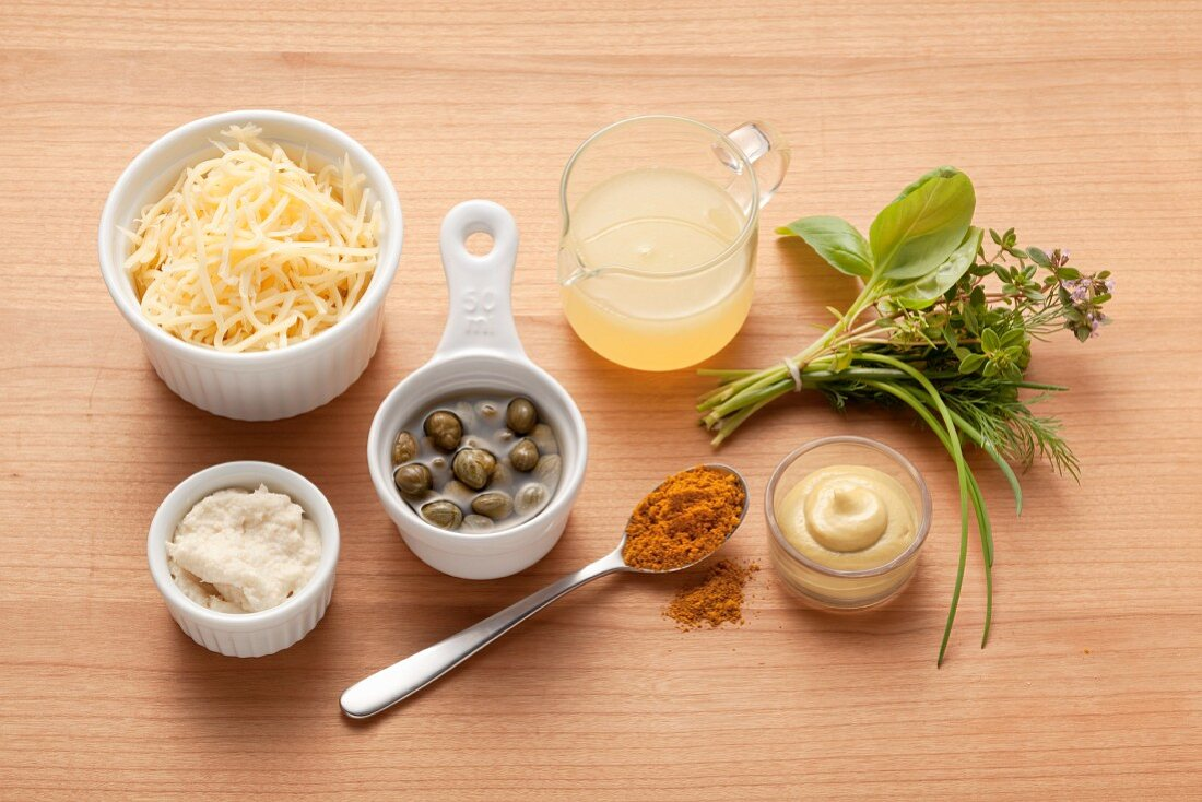 Ingredients for varying basic light sauces