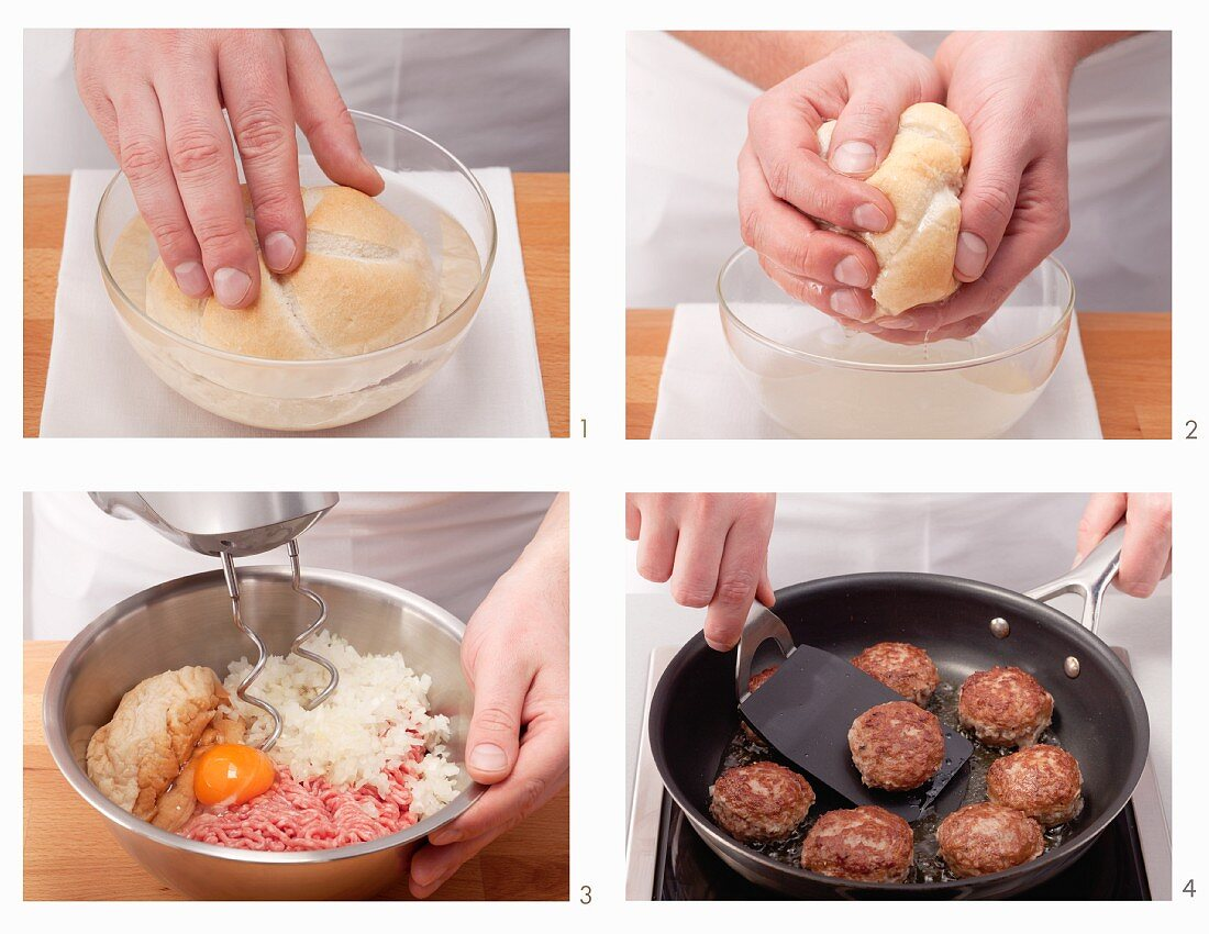 Classic meatballs being made