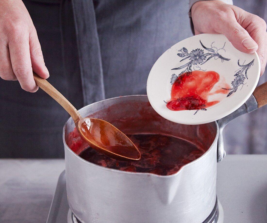 The jellying test for homemade jam