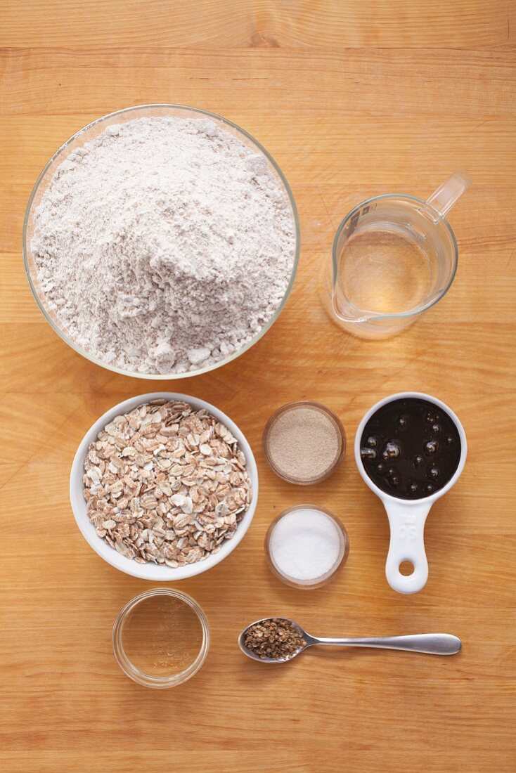 Ingredients for a loaf of flake bread
