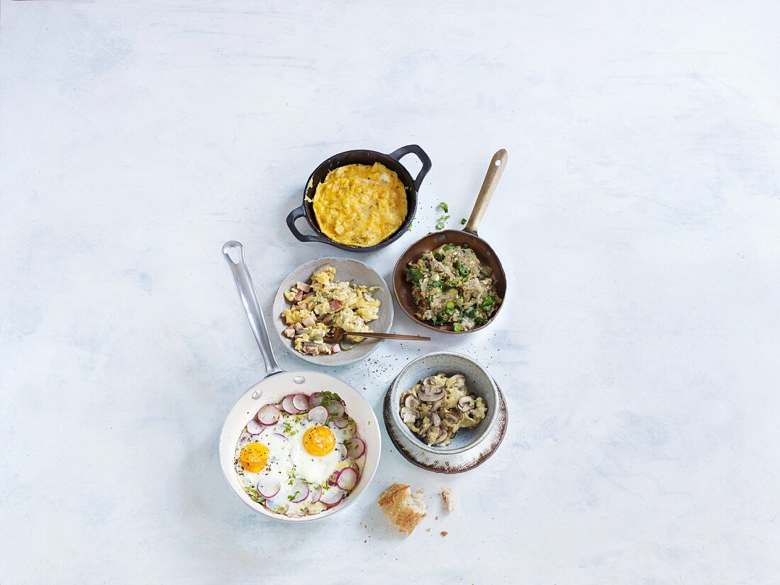 One-pan wonders: five quick and easy pan-fried egg dishes