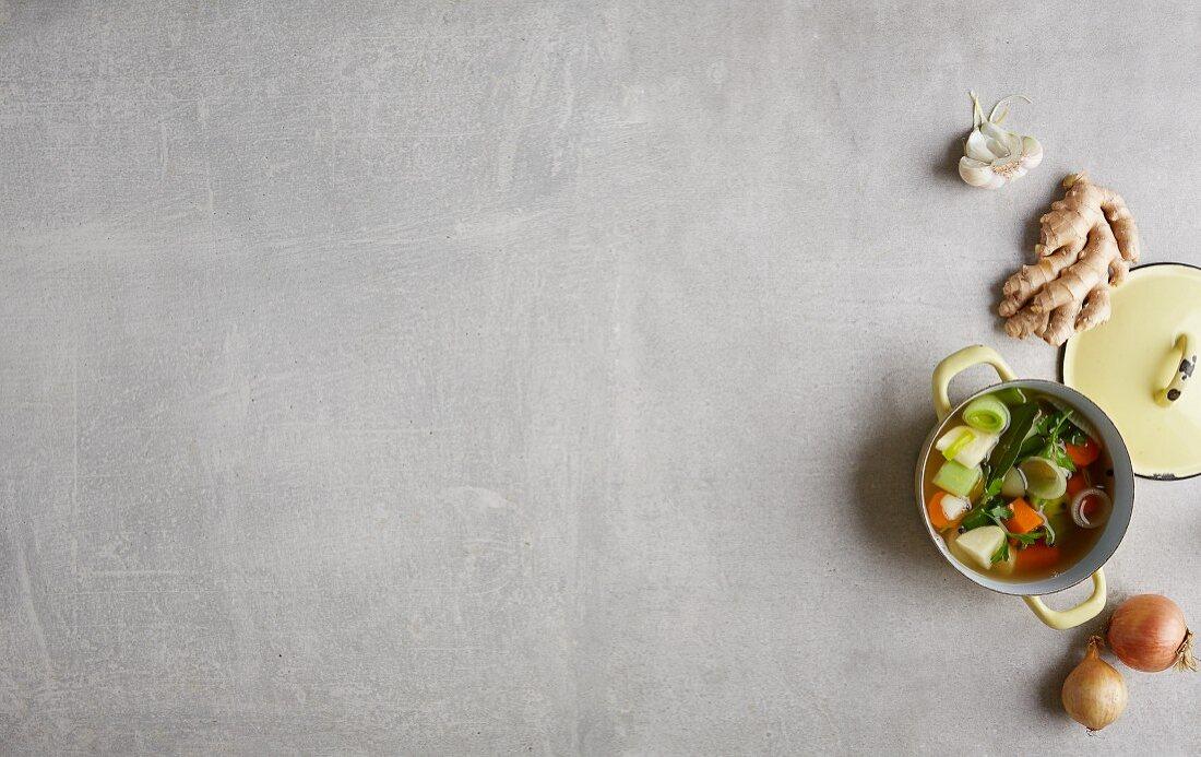 Gemüseeintopf mit Gewürzen