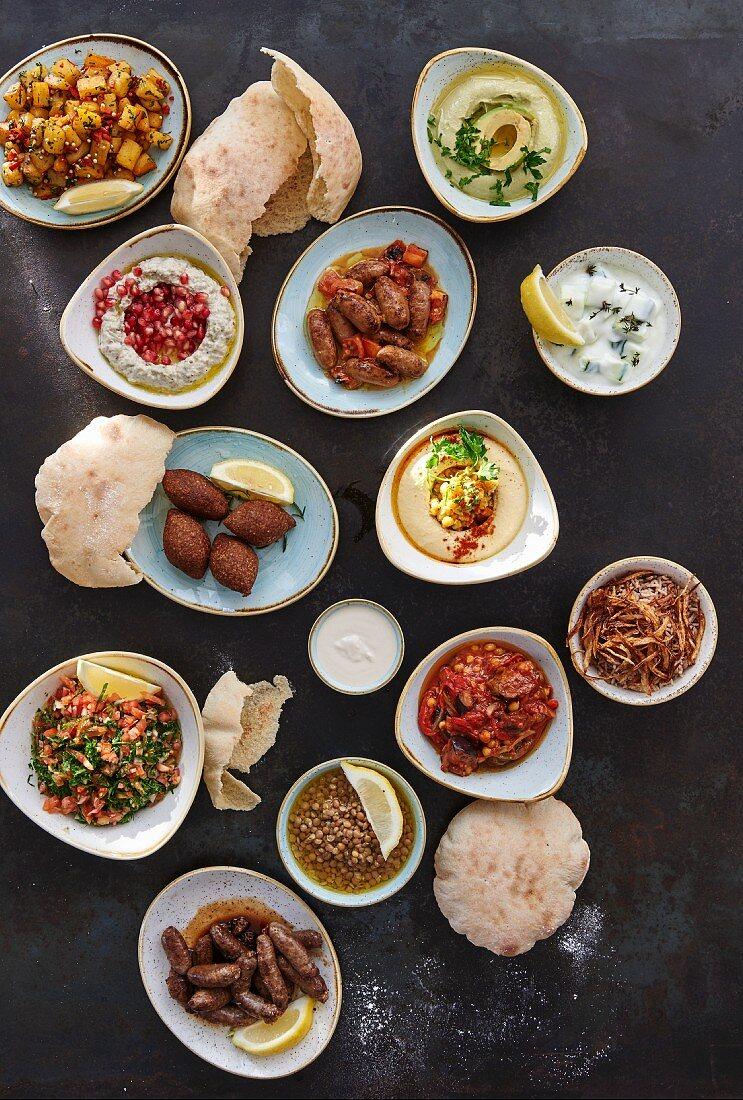 Mezze (Selection of starters, Lebanon)