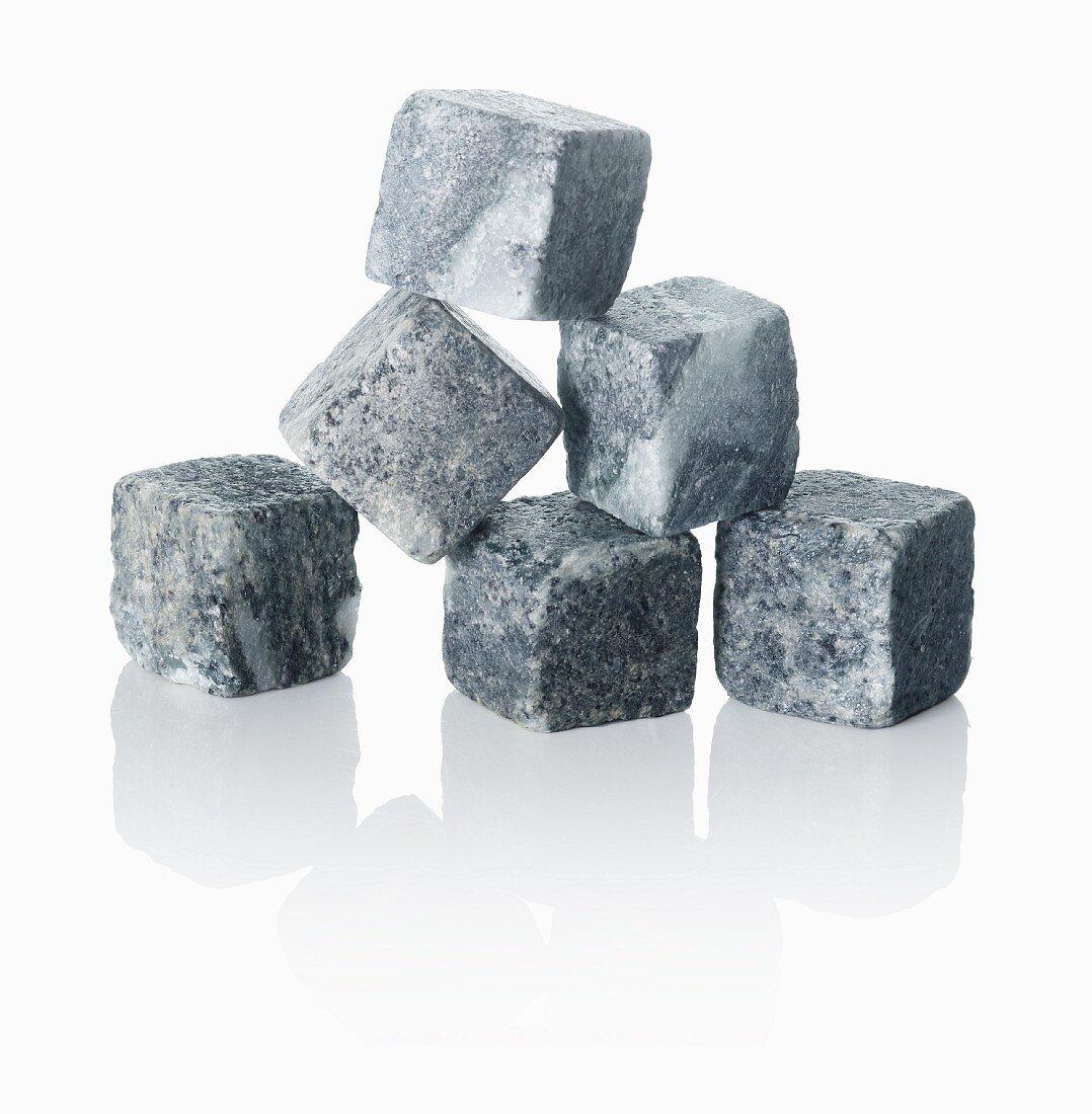 Granite ice cubes