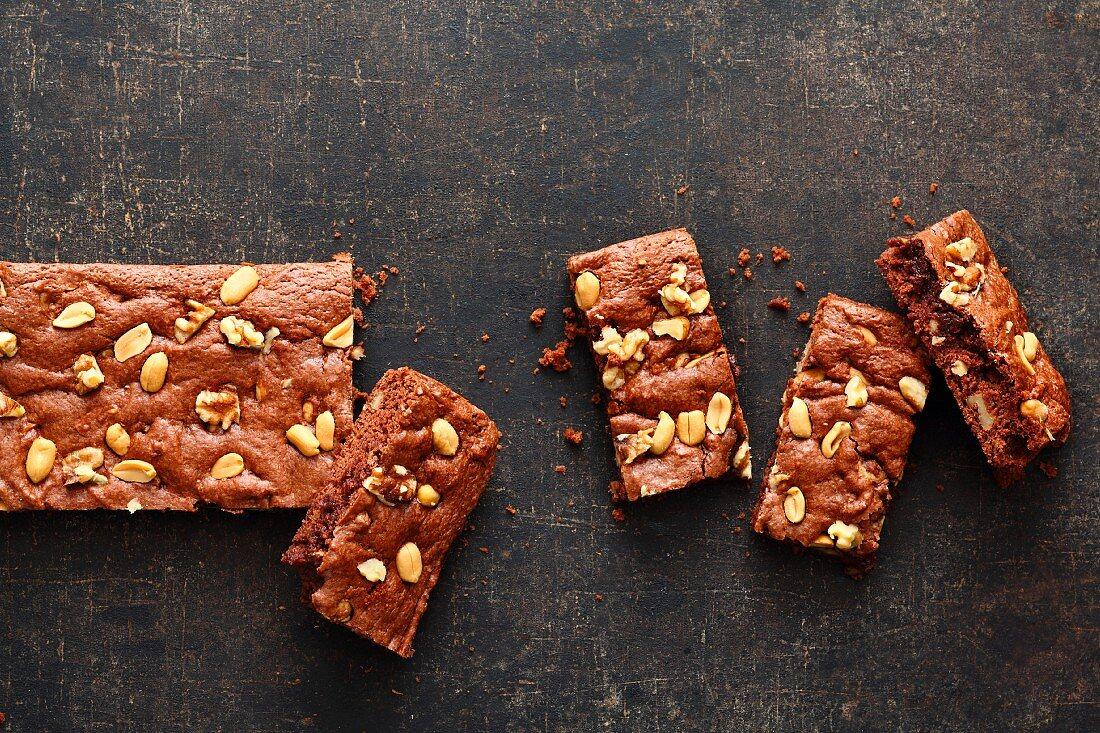 Nut fudge brownies