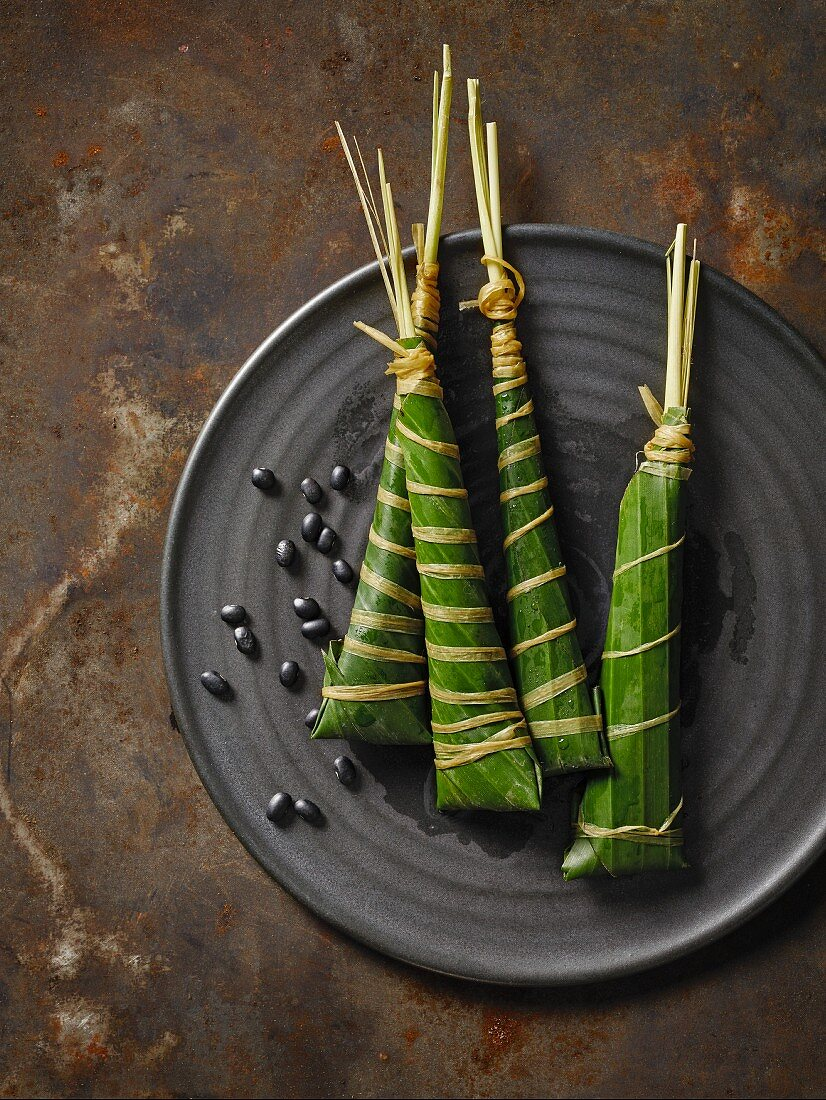Chimaki (sticky rice in a bamboo leaf, Japan)
