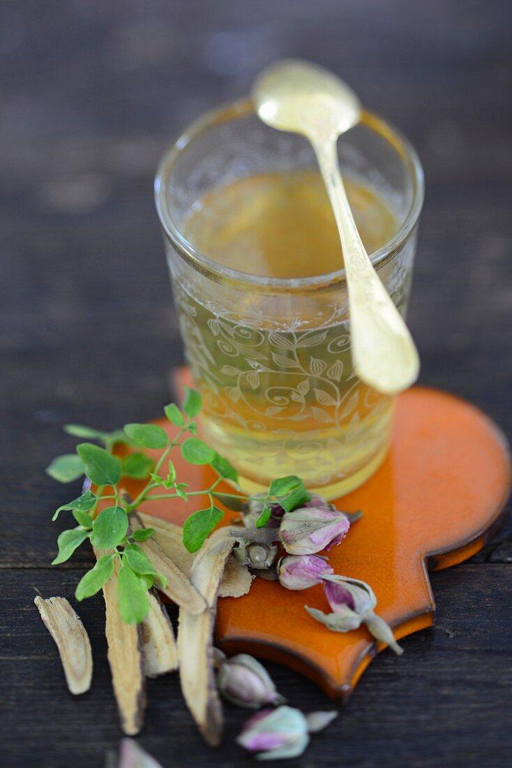 Moringa and licorice tea