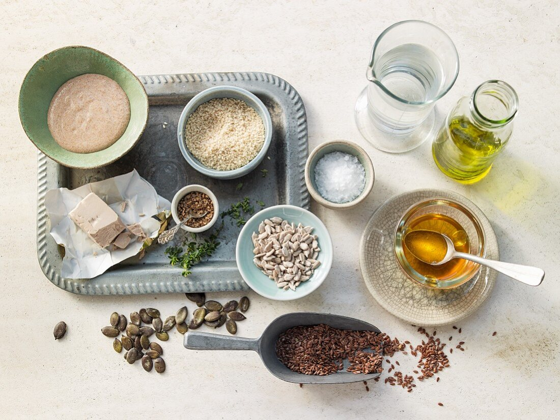 Basic ingredients for bread