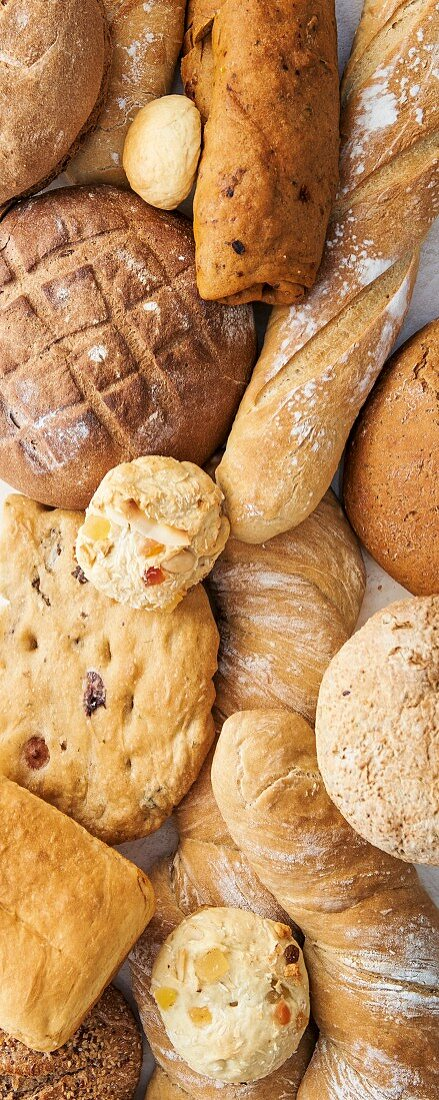 Various homemade breads