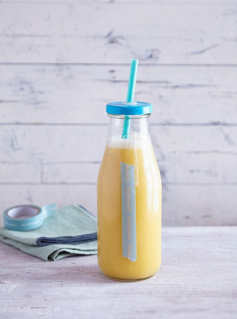 A fennel, orange, and physalis smoothie - 'Winter Sunshine'