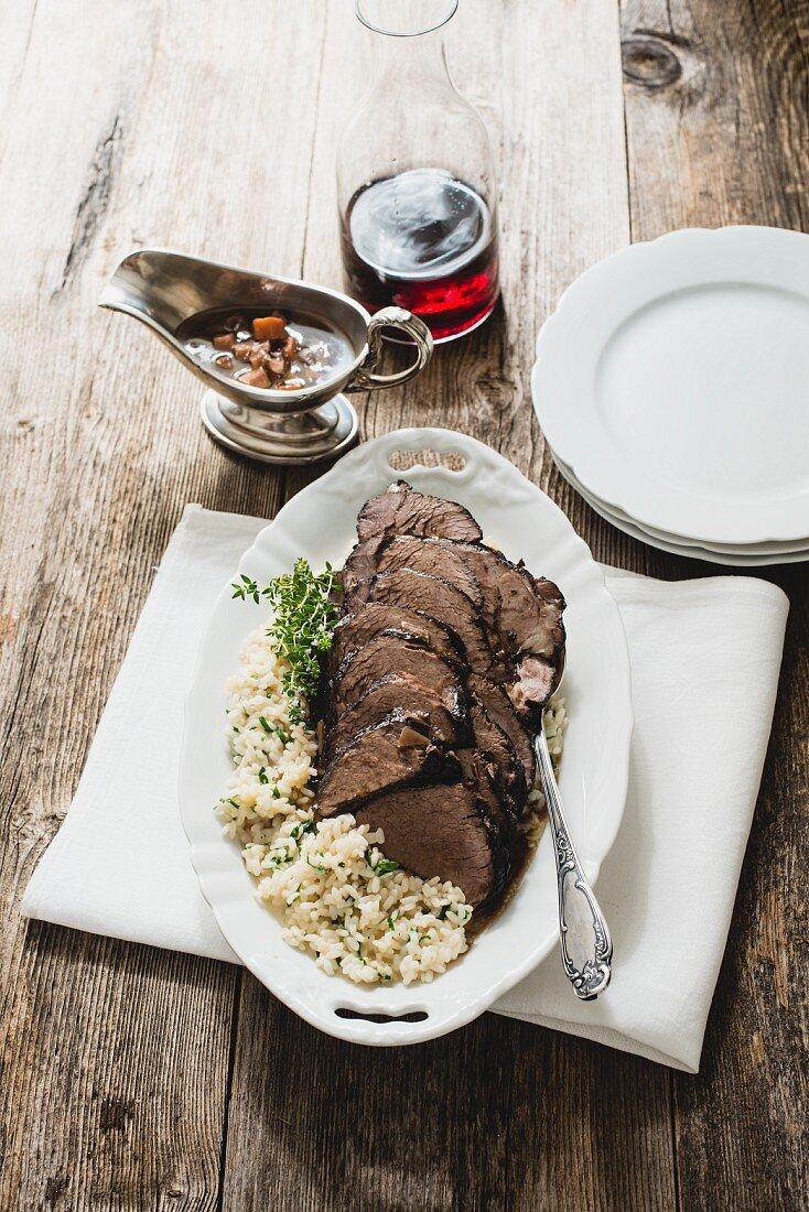 Suure Mocke (braised beef, Switzerland)