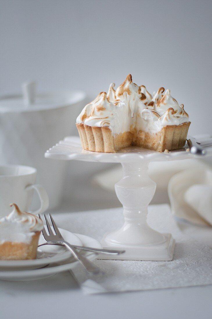 Lemon Meringue Pie with Slice Removed