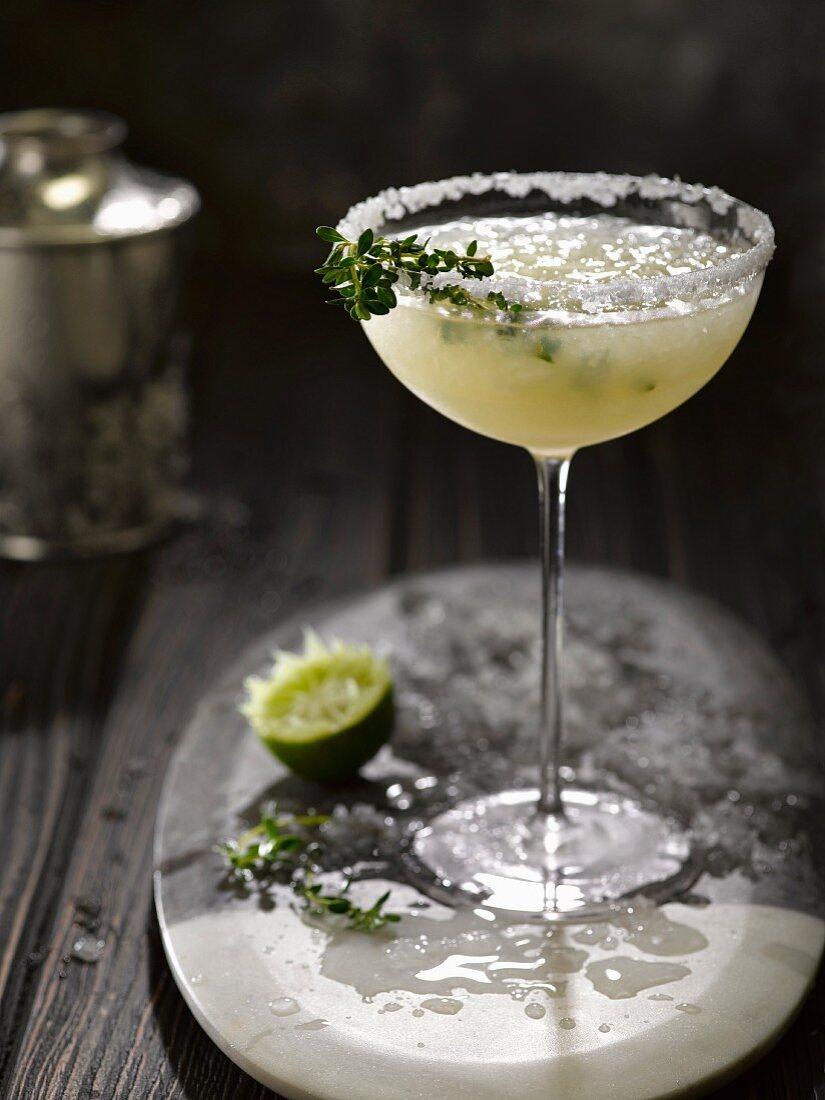 Margarita mit Crushed Ice