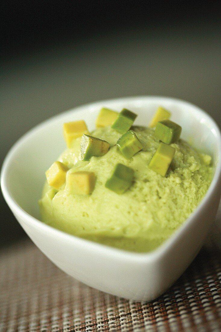Lemon and avocado buttermilk sorbet
