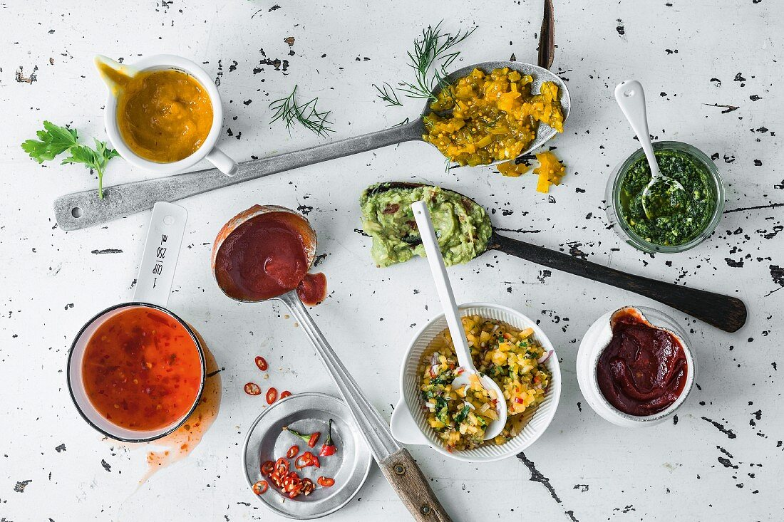 Selection of sauces