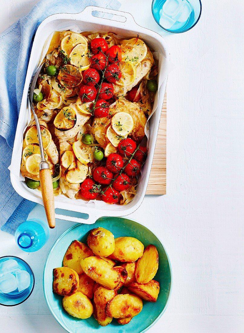 Italian Chicken with lemons