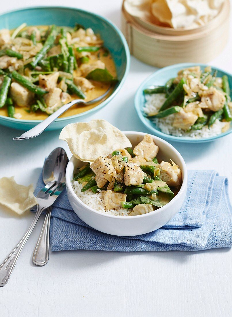 Fish Curry with green vegetable