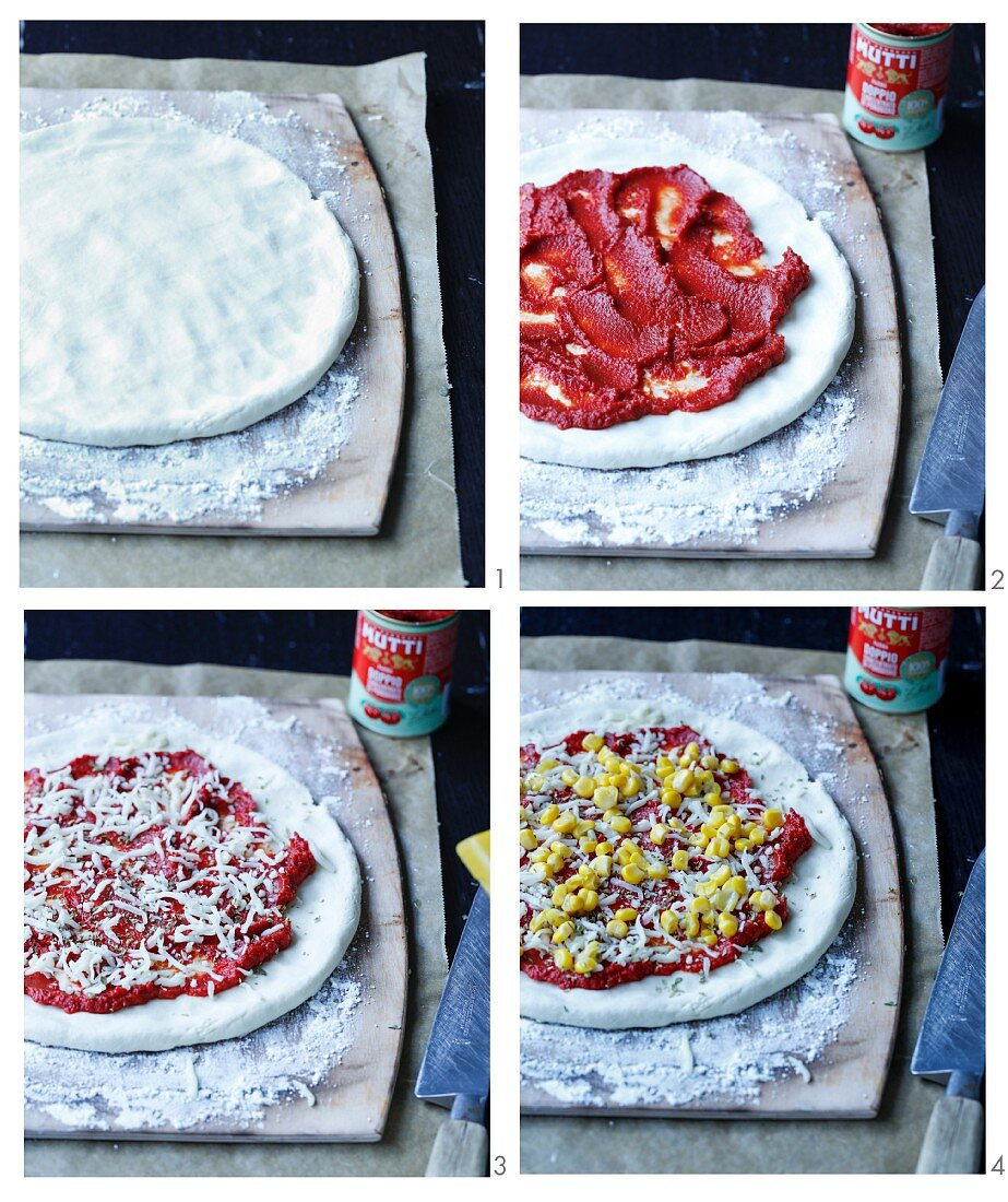 How to make gluten free pizza with corn and thyme
