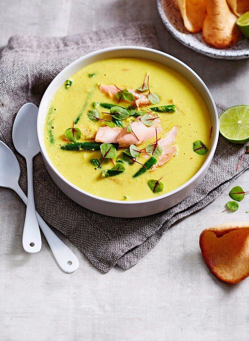 Bombay Salmon Masala Soup