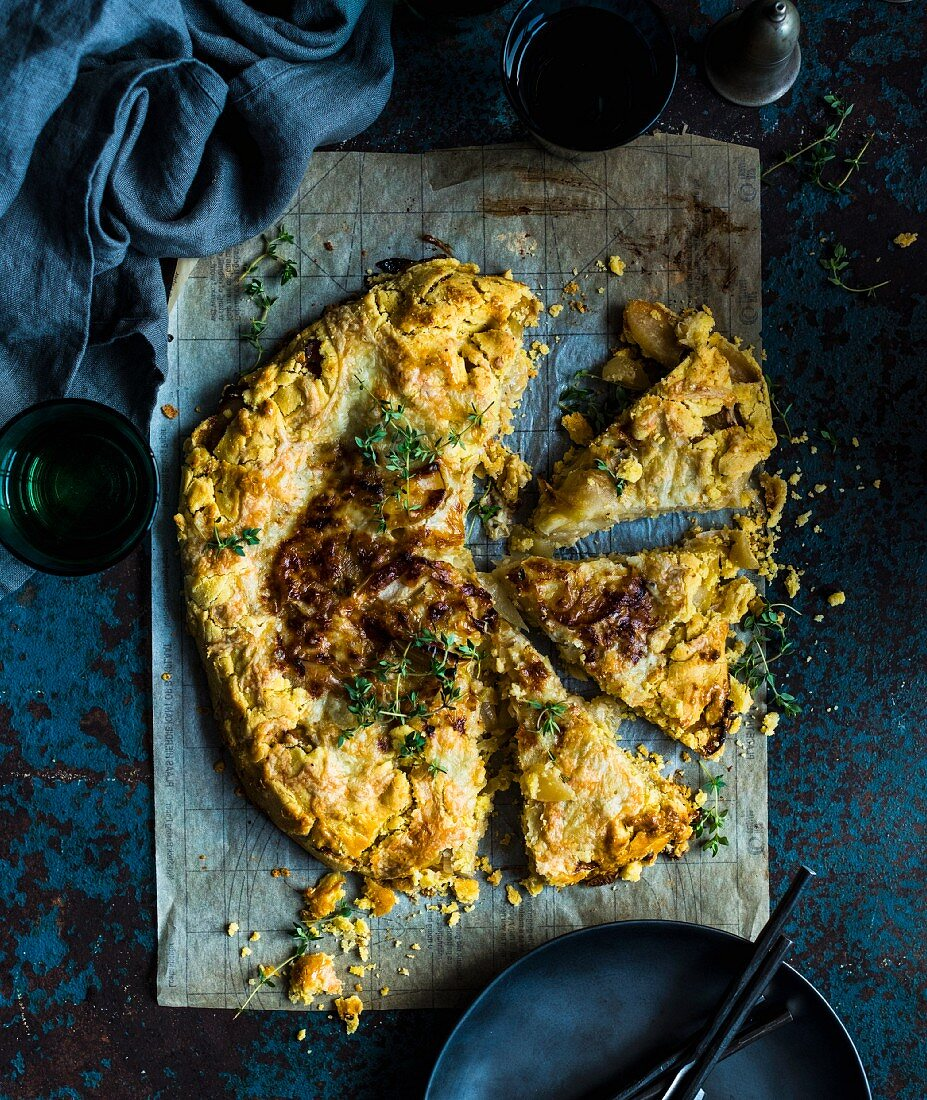 Onion and Cheese Galette