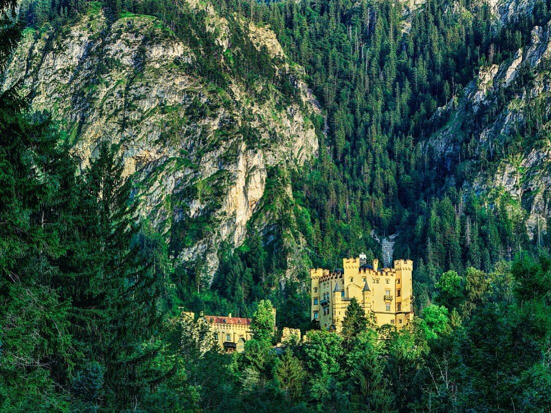 Hohenschwangau Castle in Schwangau, Bavaria, Allgäu, Germany