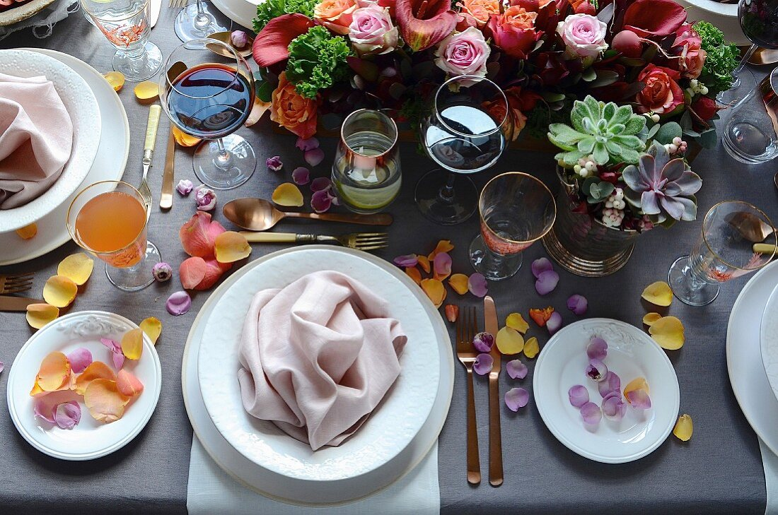 A table laid for Mother's Day