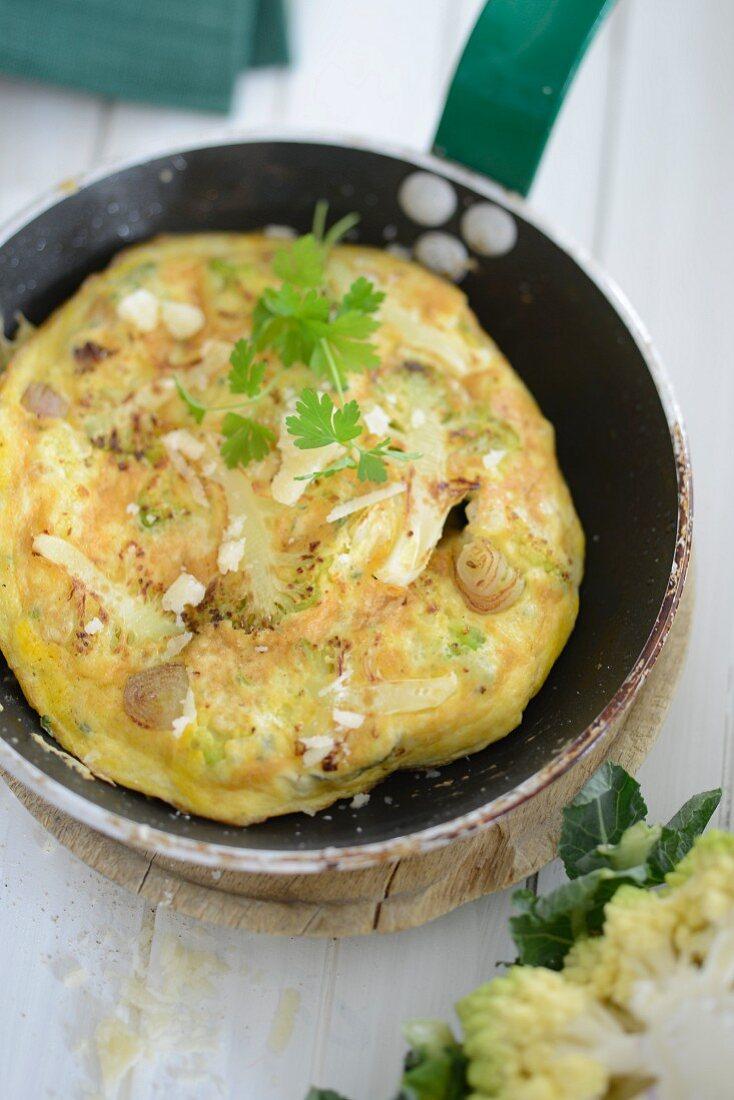 Romanesco omelette