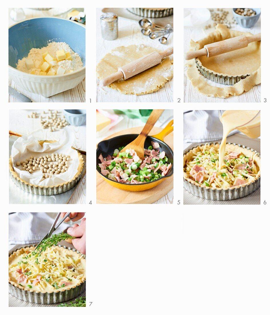How to prepare a quiche